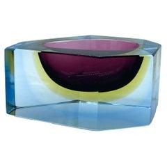 Flavio Poli for Seguso Sommerso Murano Glass, Italy 1970s
