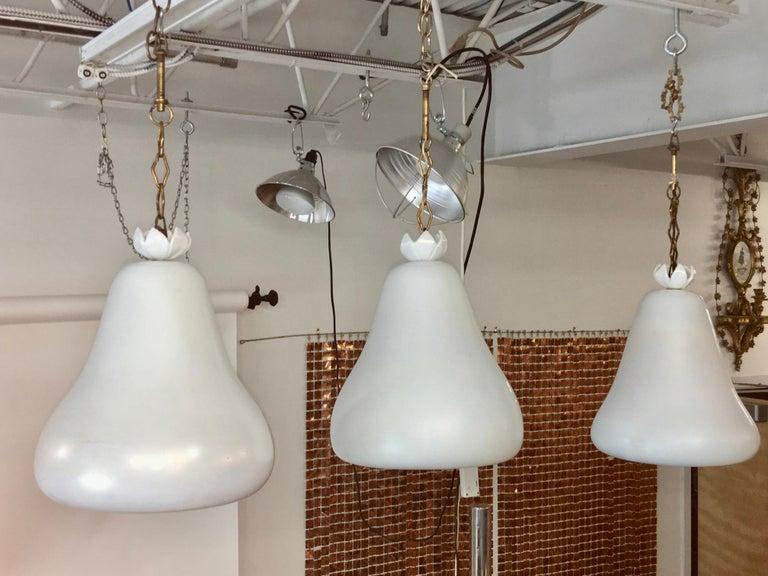 Flavio Poli for Seguso Vetri d'Arte Bell Pendants from Hotel Bristol Merano '6' For Sale 9