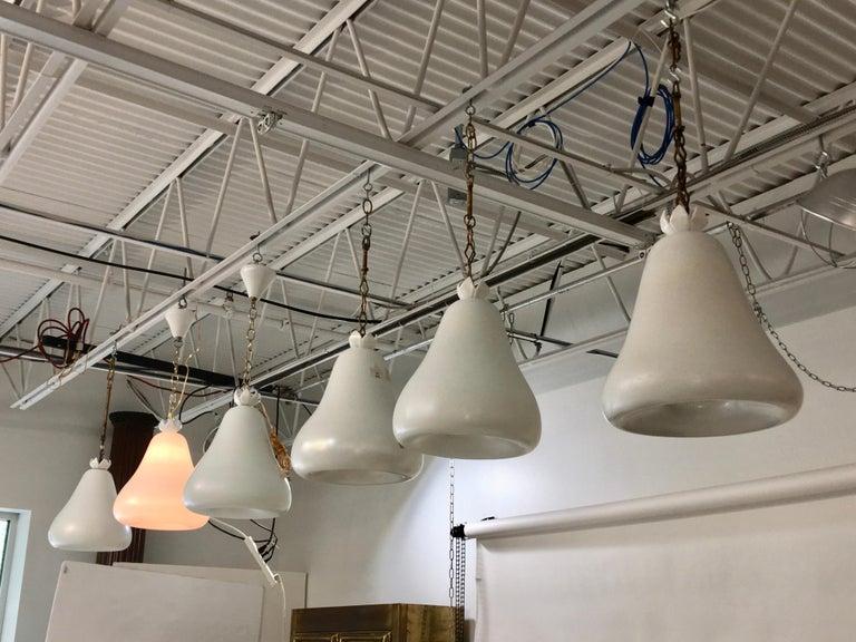 Italian Flavio Poli for Seguso Vetri d'Arte Bell Pendants from Hotel Bristol Merano '6' For Sale