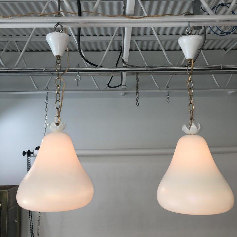 Flavio Poli for Seguso Vetri d'Arte Bell Pendants from Hotel Bristol Merano '6' In Good Condition For Sale In Hingham, MA
