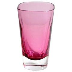 Flavio Poli Italian Midcentury Submerged Glass Vase