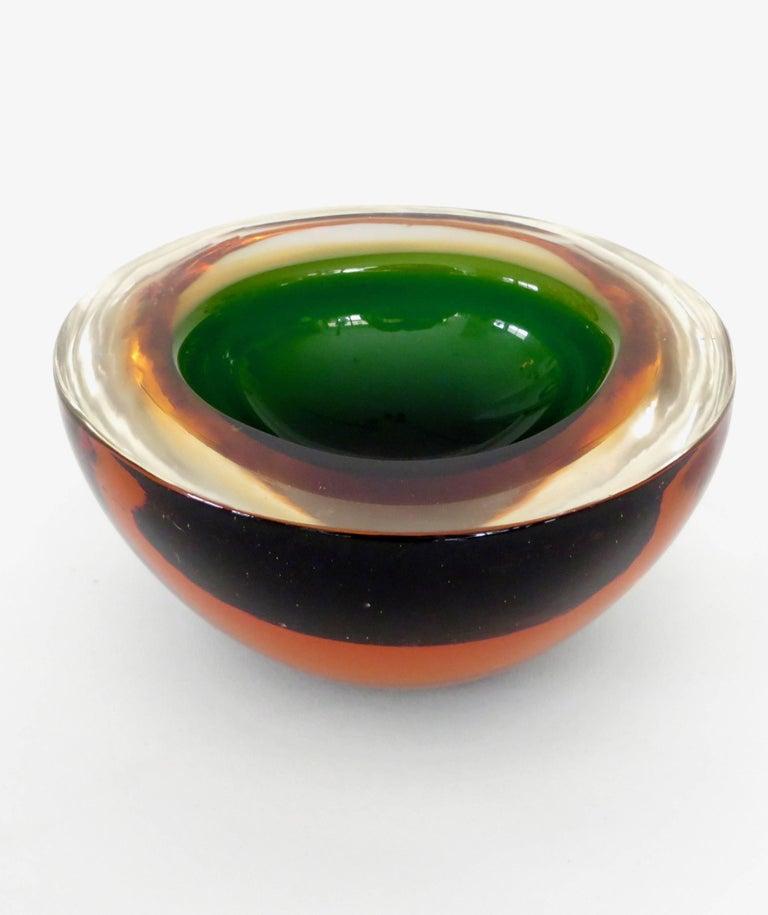 Flavio Poli Italian Sommerso Murano Glass Bowl For Sale 3