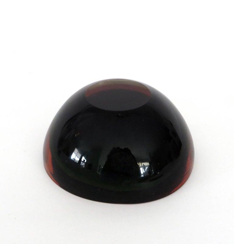 Flavio Poli Italian Sommerso Murano Glass Bowl For Sale 4