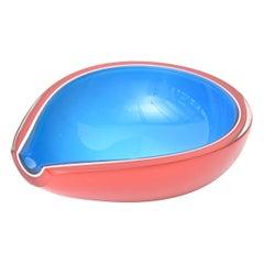 Flavio Poli Murano Tear Drop Glass Bowl Vintage