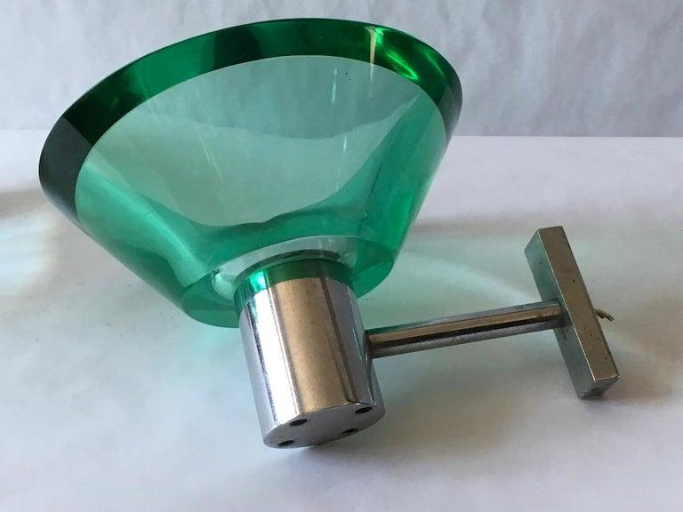 Italian Flavio Poli Pair of Applique Murano Glass Seguso, Italy