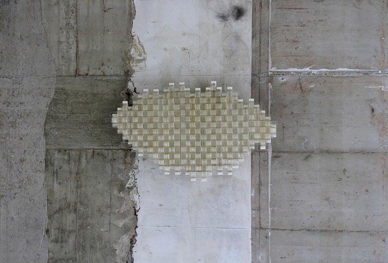 Mid-Century Modern Flavio Poli Redesigned Seguso Glass Flush Mount Hotel Bristol, Italy For Sale
