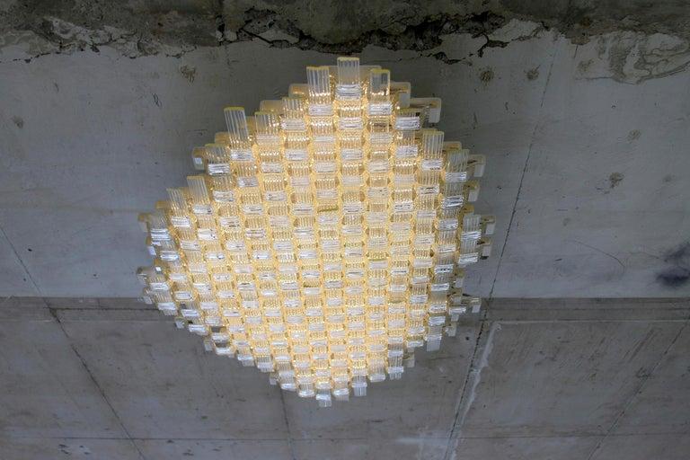 Flavio Poli Redesigned Seguso Glass Flush Mount Hotel Bristol, Italy In Good Condition For Sale In Vienna, AT