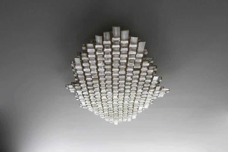 Contemporary Flavio Poli Redesigned Seguso Glass Flush Mount Hotel Bristol, Italy For Sale