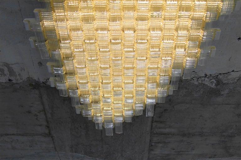 Flavio Poli Redesigned Seguso Glass Flush Mount Hotel Bristol, Italy For Sale 1