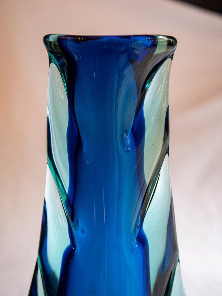 Italian Flavio Poli Sommerso Vase Glass Seguso Murano, Italy, 1960s For Sale