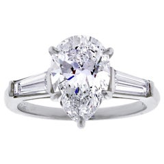 Flawless 2.54 Carat Pear-Shape Diamond Ring