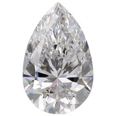 Flawless D Color GIA Certified 10.05 Carat Pear Cut Diamond Triple Excellent Cut
