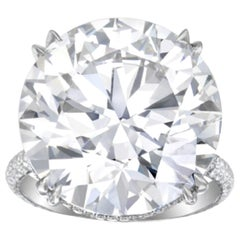 Flawless D Color GIA Certified 11.38 Carats Round Diamond Ring