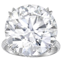 GIA Certified 12.53 Carats Round Diamond D Color VVS2 Clarity