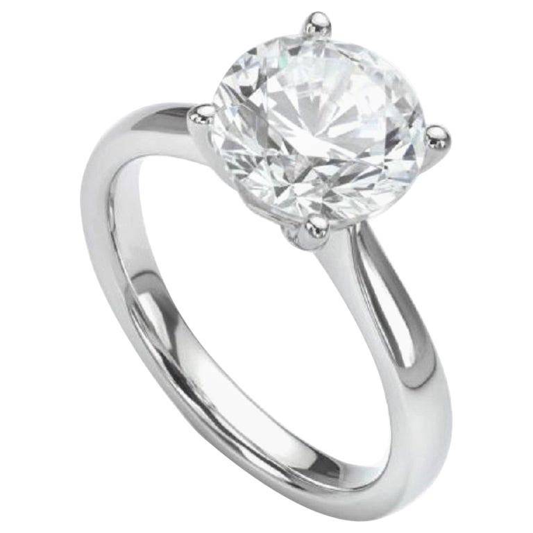 Flawless D Color GIA Certified 1.30 Carat Round Diamond Ring