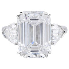 Flawless D Color GIA Certified 3.50 Carat Emerald Cut Diamond Ring