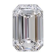 Flawless D Color GIA Certified 4 Carat Emerald Cut Diamond
