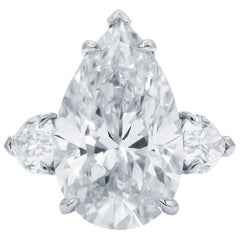Flawless D Color GIA Certified 4.03 Carat Chemically Pure Pear Cut Diamond