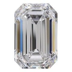 Flawless D Color GIA Certified 5.13 Carat Emerald Cut Diamond