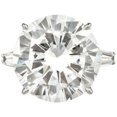 Flawless D Color GIA Certified 9.20 Carat Round Brilliant Cut Diamond Ring