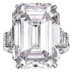 GIA Certified 5.65 Carat Emerald Cut Diamond Solitaire Ring VS2 Clarity