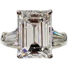 Flawless GIA Certified 11.71 Carat Emerald Cut Diamond Excellent Cut