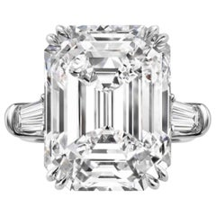 Flawless GIA Certified 2 Carat Emerald Cut 'main stone' Diamond Ring