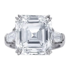 GIA Certified 4.65 Carat Asscher Cut Diamond Platinum Ring