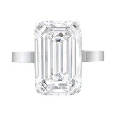 Flawless GIA Certified 4 Carat Emerald Cut Platinum Ring