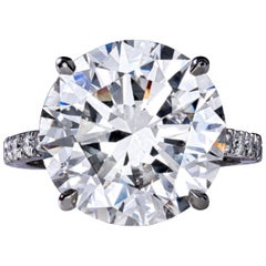 Flawless GIA Certified 4.30 Carat Round Brilliant Cut Diamond Ring