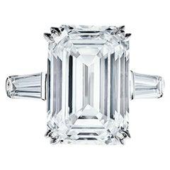 """FLAWLESS TYPE IIA """"GIOCONDA TYPE"""" GIA Certified 5.18 Carat Emerald Cut Diamond"""