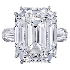 I Flawless GIA Certified 8 Emerald Cut Diamond Excellent Cut