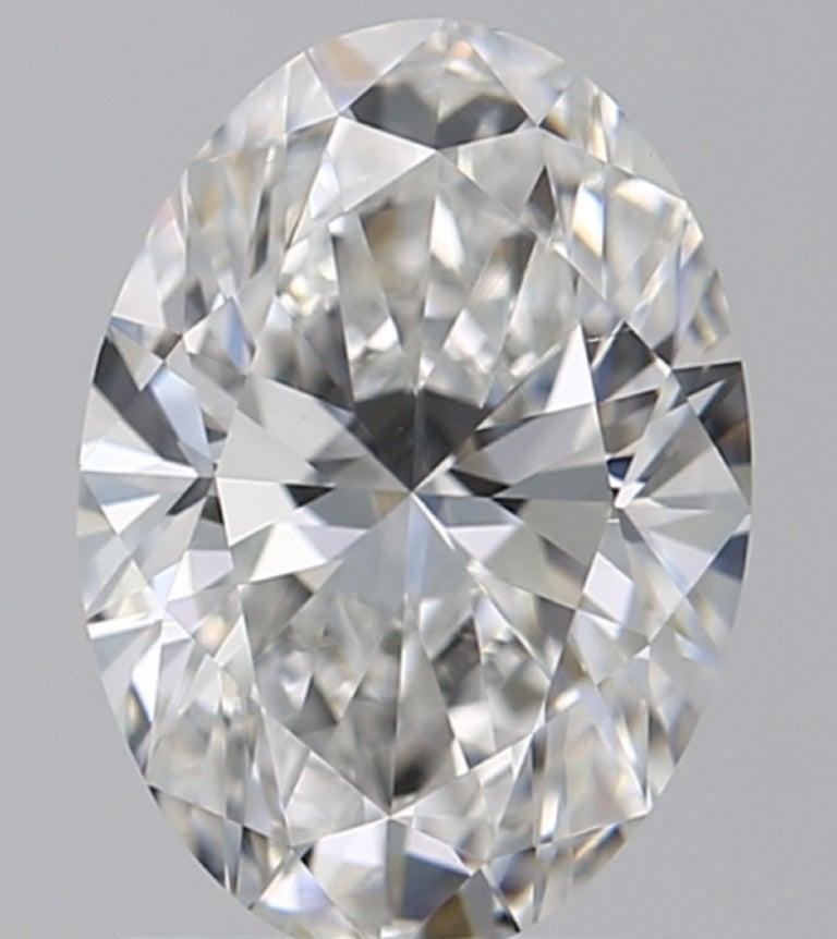 Modern GIA Certified 6.01 Carat Oval Diamond Ring