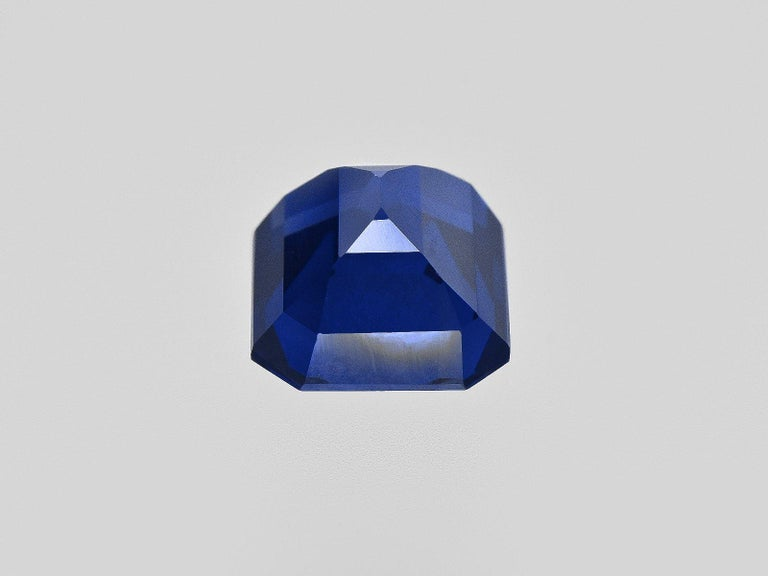 FLAWLESS GRS Certified 5.75 Carat Royal Blue No Heat Blue Sapphire Diamond Ring In New Condition For Sale In Rome, IT