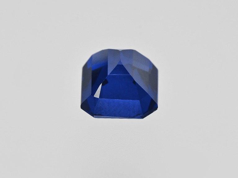 Women's or Men's FLAWLESS GRS Certified 5.75 Carat Royal Blue No Heat Blue Sapphire Diamond Ring For Sale