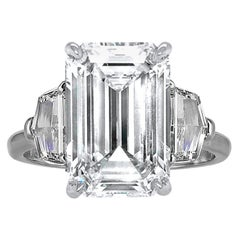Flawless Type 2A GIA Certified 8 Carat D Color Diamond White Gold Ring