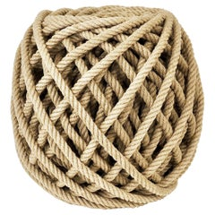 Flax Ottoman Rope Stool Pouf Tabouret by Christien Meindersma, Netherlands