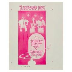 Fleetwood Mac Original Progressive Printer's Proof Concert Poster, 1977