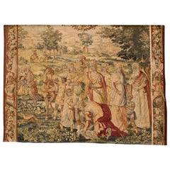 "Flemish 17th-18th Century Baroque Historical Tapestry Fragment ""A Royal Family"""