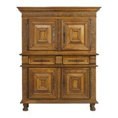 Flemish 17th Century Carved Oak Cabinet
