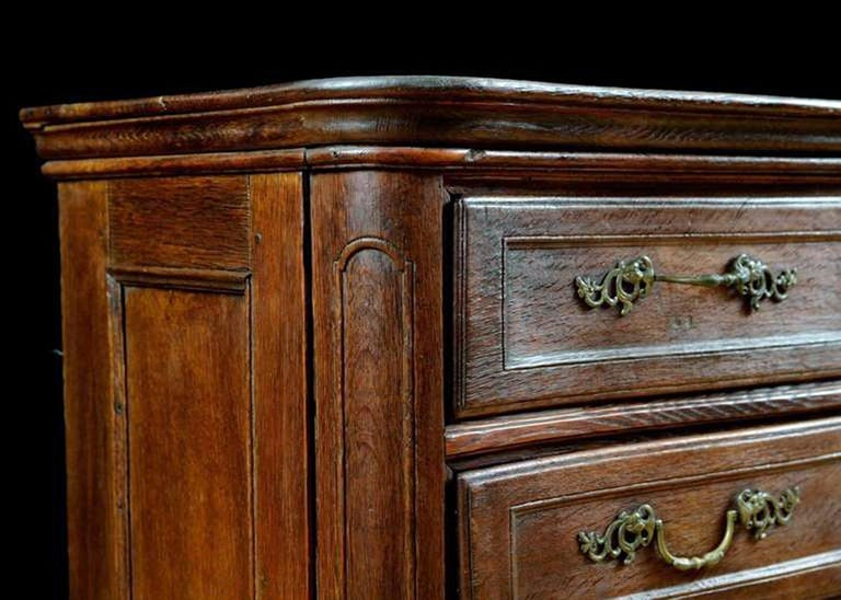 Belgian Flemish Baroque Chest of Drawers in Rich European Oak, circa 1770 For Sale