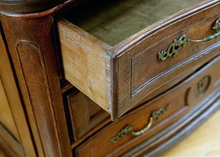 18th Century Flemish Baroque Chest of Drawers in Rich European Oak, circa 1770 For Sale