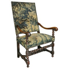 Flemish Baroque Walnut Armchair
