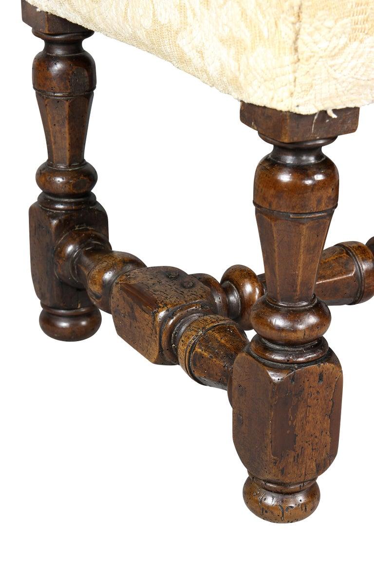 Late 17th Century Flemish Baroque Walnut Footstool