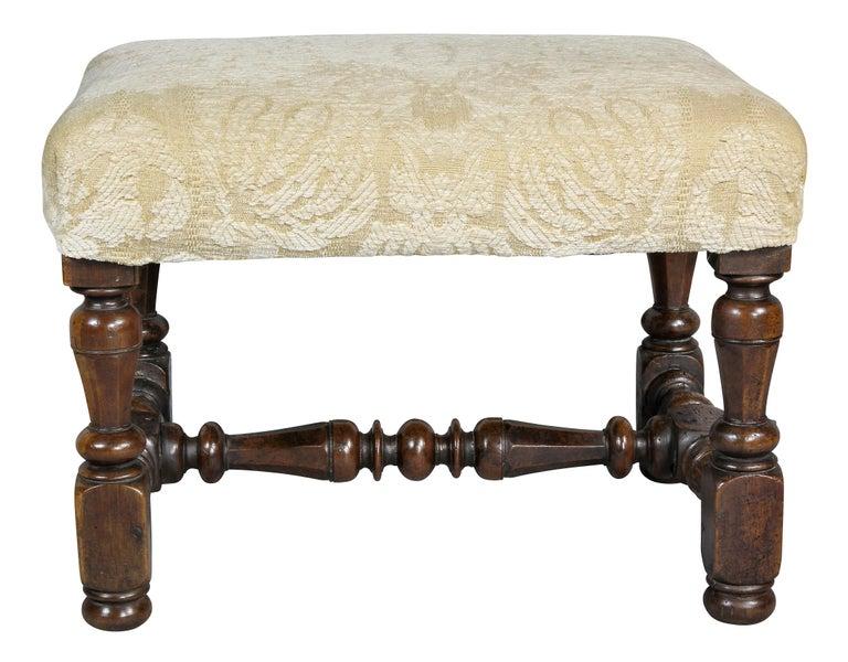 Flemish Baroque Walnut Footstool 2