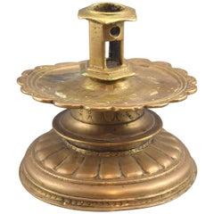 """Flämisch-Kerze-Halter (""""Reel"""" oder """"Spule""""). Bronze 16. Jahrhundert"""