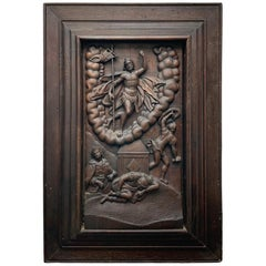 Flemish Embossed Wood Plaque of the Resurrection of Jesus Christ