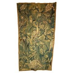 """Flemish """"Fleur de Choux"""" Tapestry Fragment"""