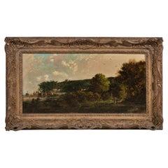 Flemish Landscape 19th Century Signed