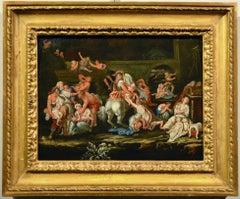 Massacre Innocents Flemish Paint Oil on table Old master 17th Century Religious